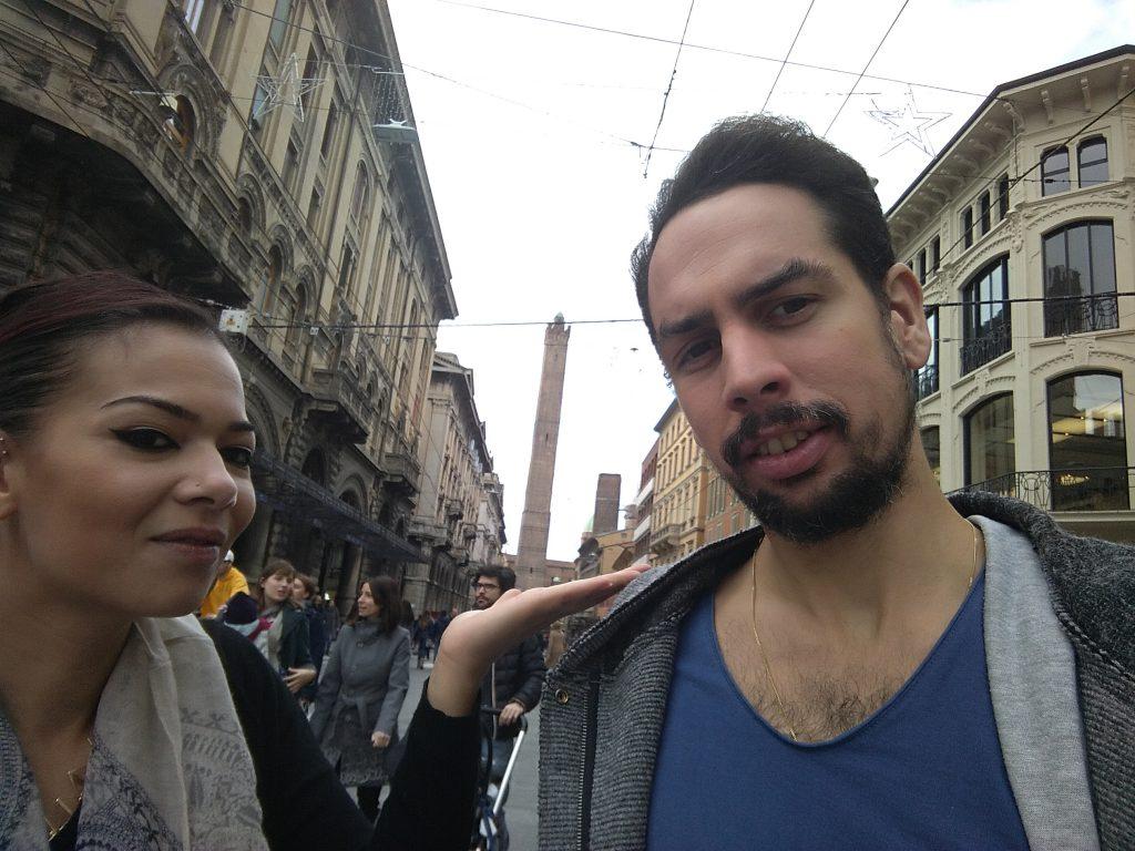 Cruzcampoman y Mylette en Bolonia