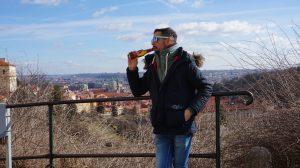 Cruzcampoman en Praga